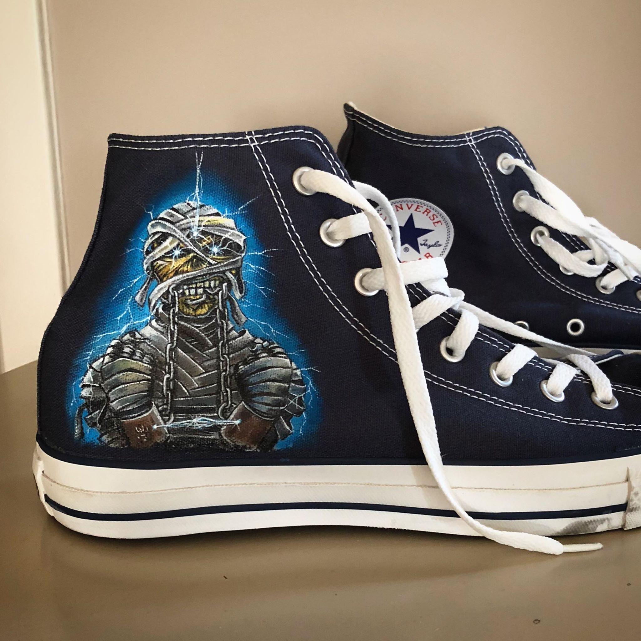Iron Maiden Eddie Converse Mummy