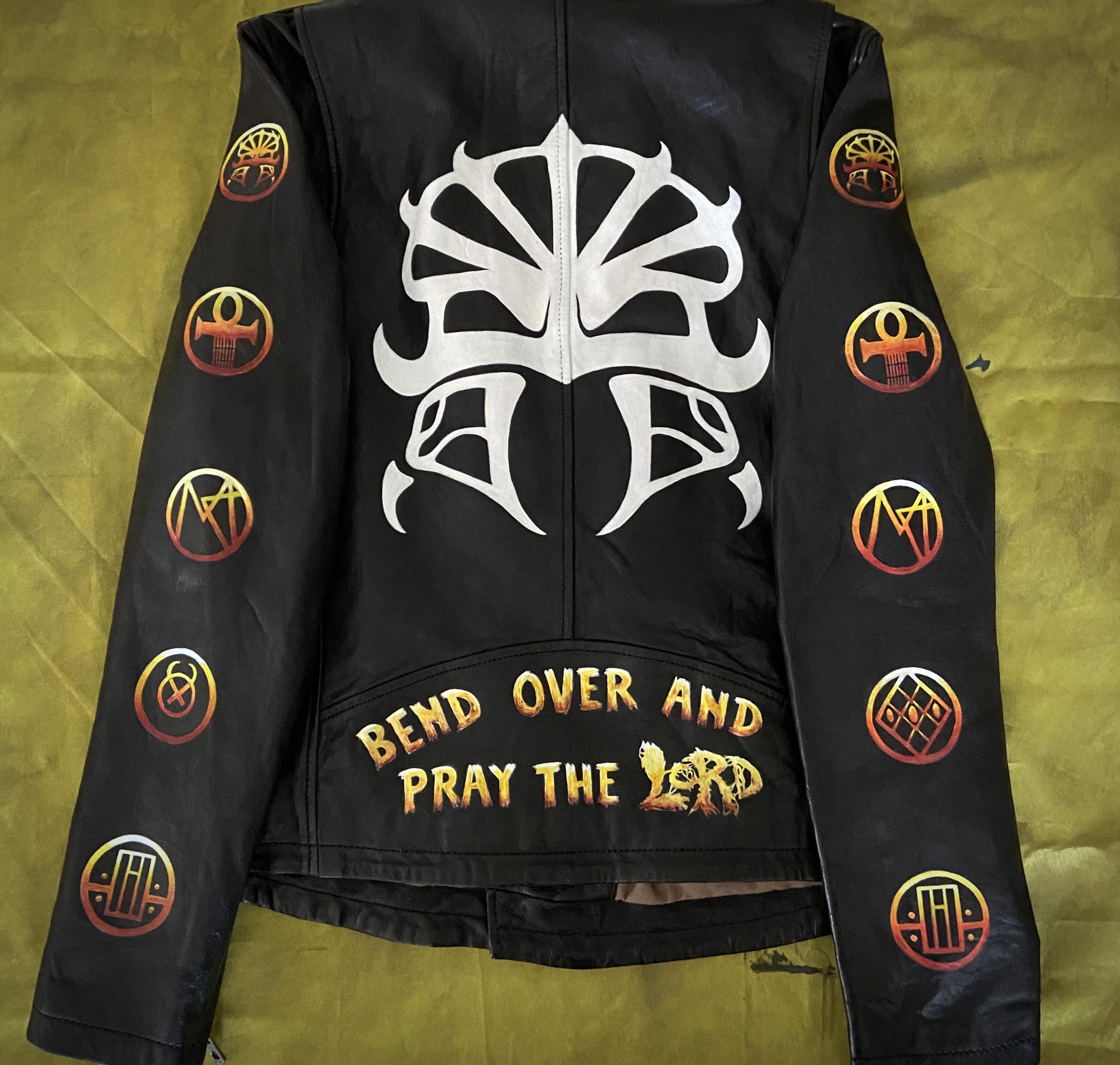 Lordi leather jacket back
