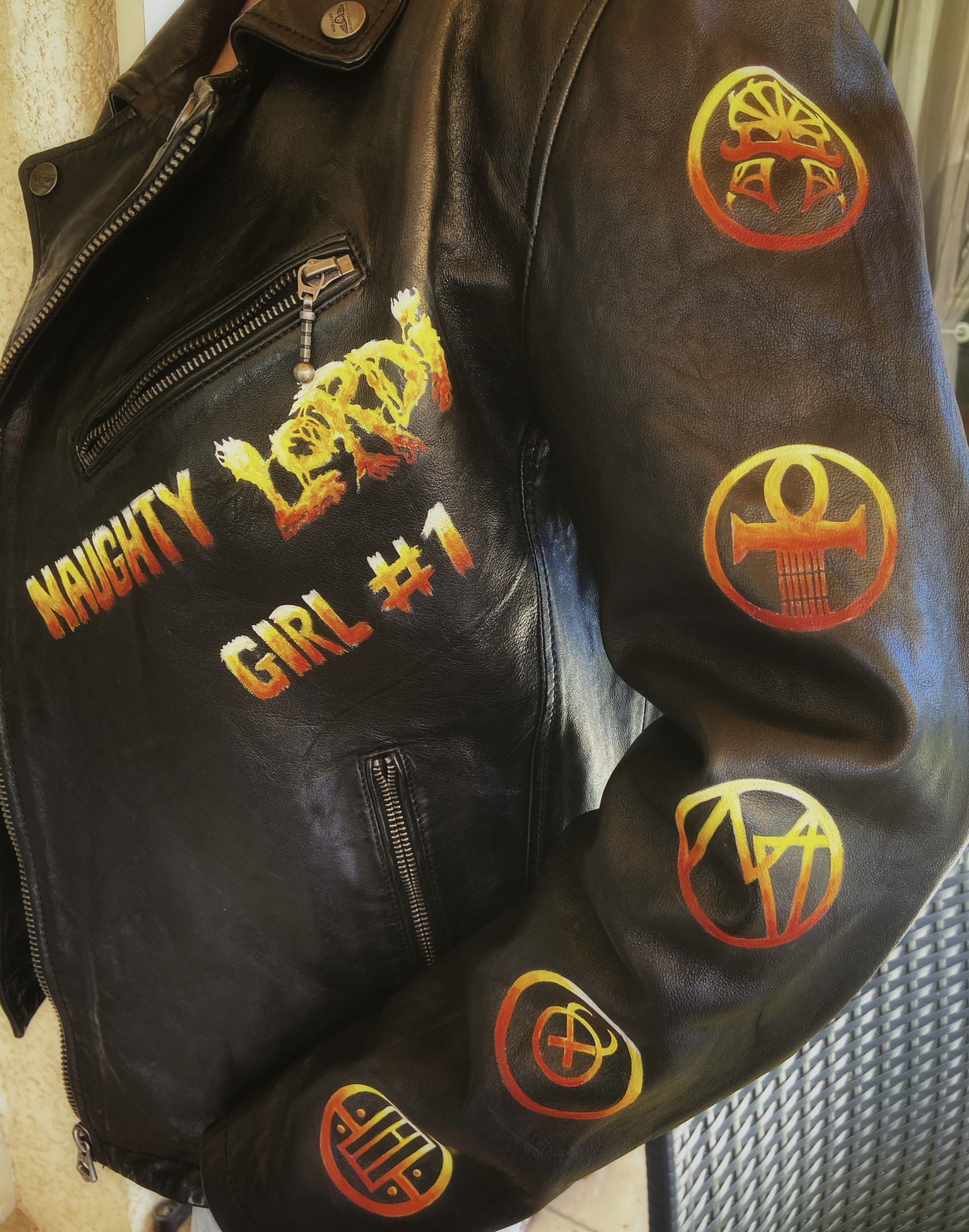 Lordi leather jacket front