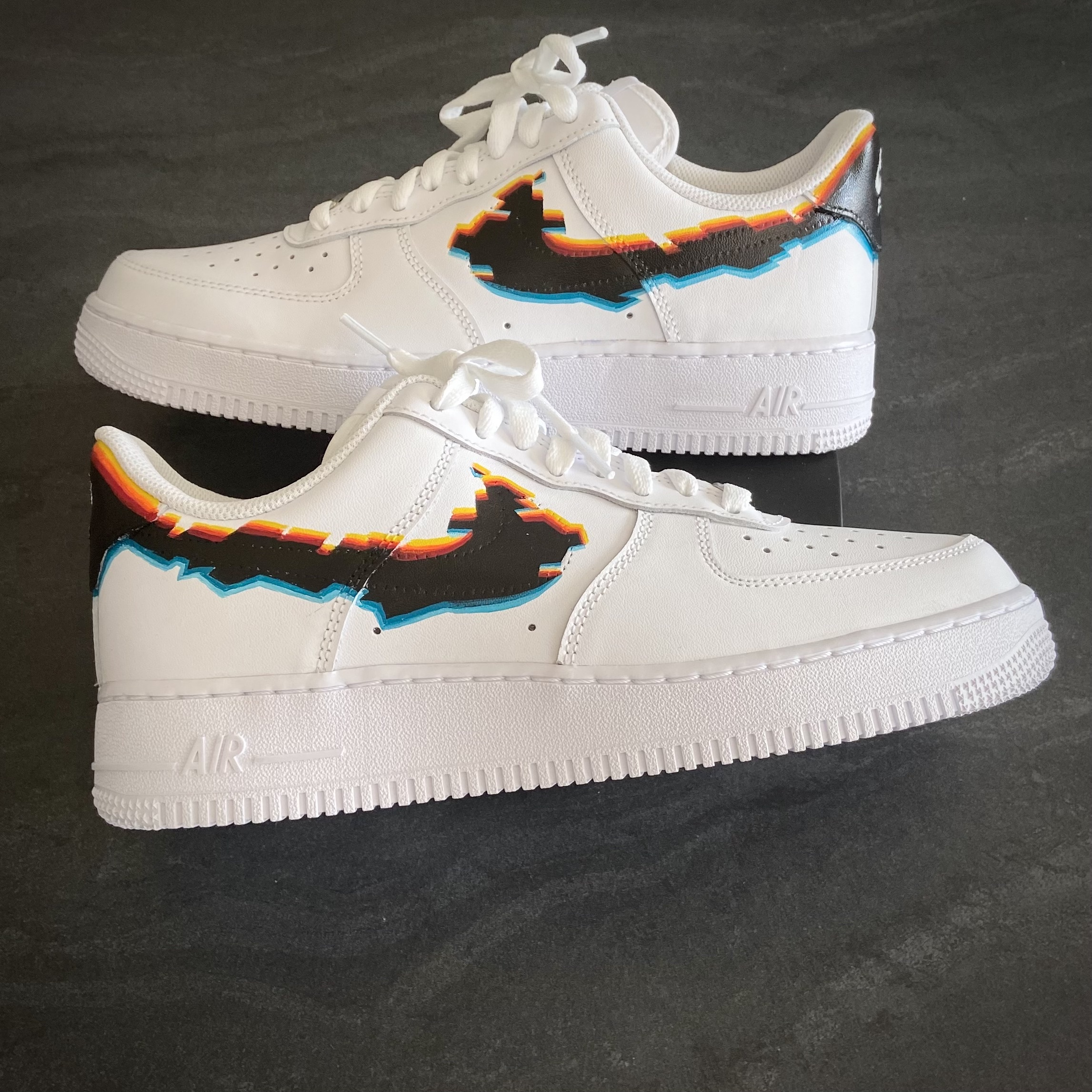 Nike painted leather Glitch