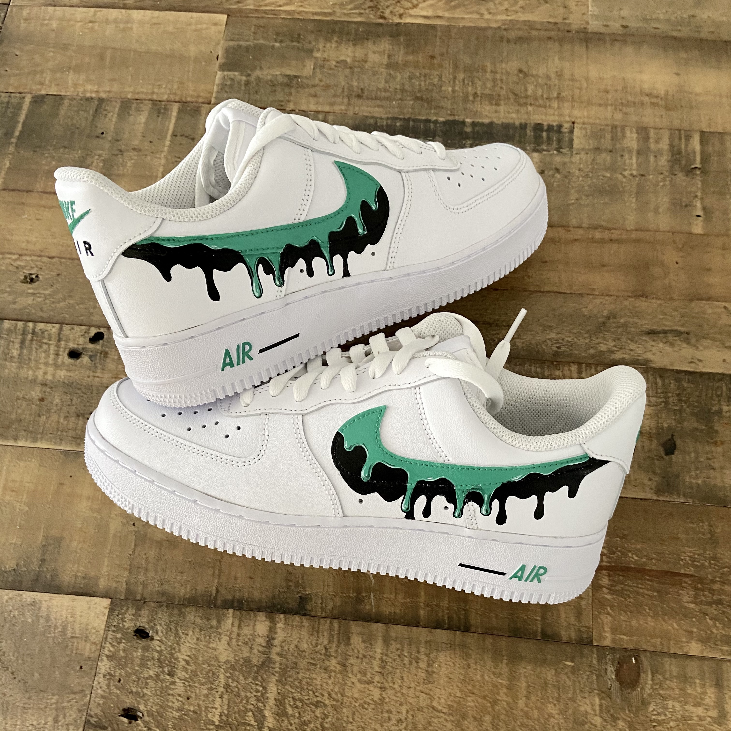 Nike painted leather
